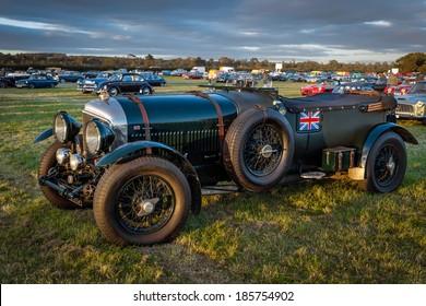 GOODWOOD, WEST SUSSEX/UK - SEPTEMBER 14 : Vintage Bentley parked at Goodwood on September 14, 2012. Unidentified people.