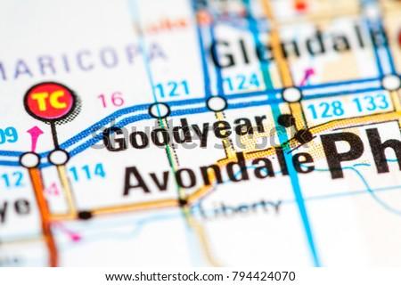Goodyear Arizona Usa On Map Stock Photo Edit Now 794424070