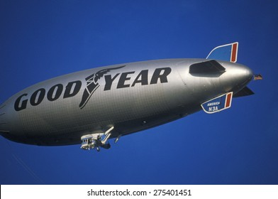 The Goodyear Blimp over Los Angeles