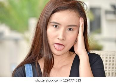 Goofy Pretty Filipina Person