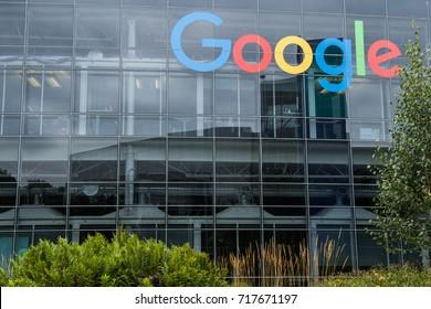 GOOGLEPLEX, CALIFORNIA. 14 th August, 2017: Googleplex headquarter exterior