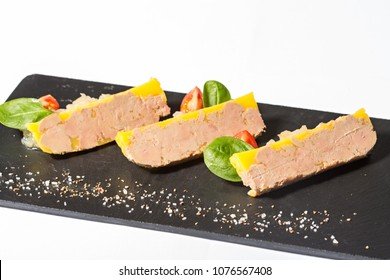 Goose liver pate,Foie gras, served on black stone