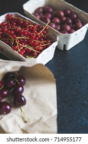 gooseberry, cherry, red currant
