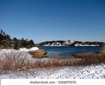 Gooseneck Salt Marsh. Ocean Drive. Newport, Rhode Island.