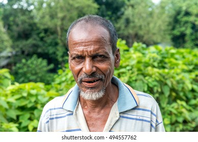 Gopalgonj, Bangladesh - September 20, 2016: simple man of the village stands at Gopalgonj, Bangladesh