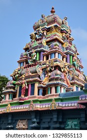 Gopuram of an hindi temple in South India