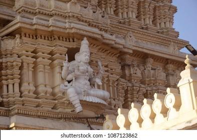 Gopuram of Shri Chamundeshwari temple on Chamundi Hill, Mysore, South India