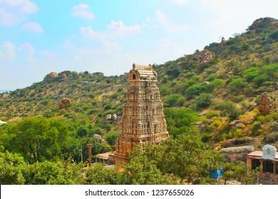 Gopuram at yaganti temple