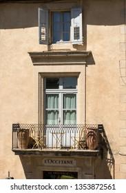 GORDES, FRANCE - JUNE 25, 2017:  Typical old  house in Gordes village, Vaucluse, Provence, France