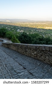 Gordes hill village alley stone in the Luberon Provence france