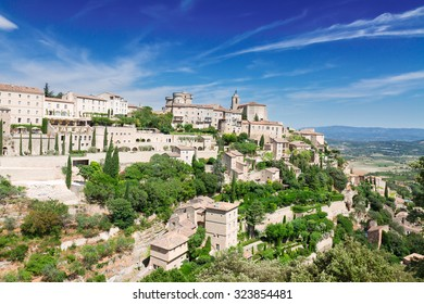 Gordes, old town fortress of Provence at summer day, France