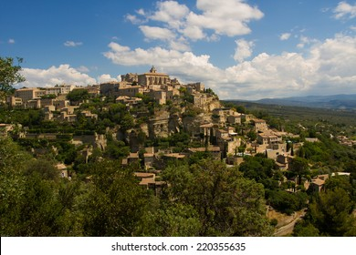Gordes on the hill with blue skye, Provence, France