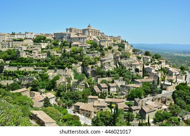 Gordes seen a commune in the Vaucluse department in the Provence Alpes Côte d'Azur, perched on a hill  this village is considered one of the most beautiful in France
