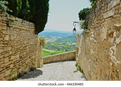 Gordes seen a commune in the Vaucluse department in the Provence-Alpes-Côte d'Azur, perched on a hill, this village is considered one of the most beautiful in France