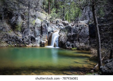 Gordon Creek Falls in the Tonto National Forest in the Mongollon Rim country near Payson Arizona USA
