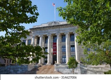 Gordon Hall at the Quadrangle of Harvard Medical School (Boston, Massachusetts, USA / September 7, 2015)