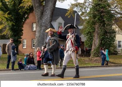 Gordonsville, VA/USA - November 9, 2019: The Gordonsville Veterans Day Parade.