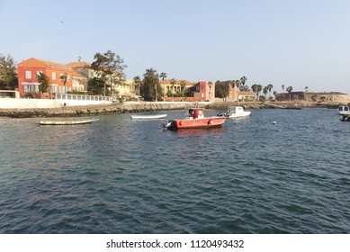 Goree Island, Dakar, Senegal. View from the boat, at the arrival on the island.