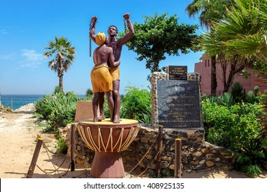 GOREE/SENEGAL - NOVEMBER 11, 2013: Slavery Freedom Monument at the Maison des Esclaves Memorial, Goree island, Senegal