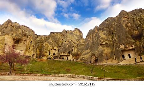 Goreme, open air museum which is UNESCO world heritage in Turkey