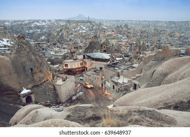 Goreme tourist city in Turkey with an unusual relief