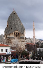 Goreme, Turkey; March 1st 2015: The city of Goreme in the Capadoccia region with its unique geological formations in the world, World Heritage Site, Turkey.