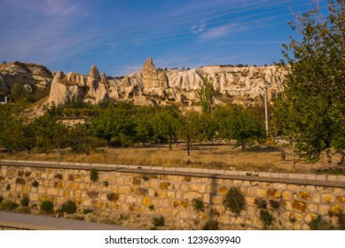 GOREME, TURKEY: Rock houses and churches in Goreme.