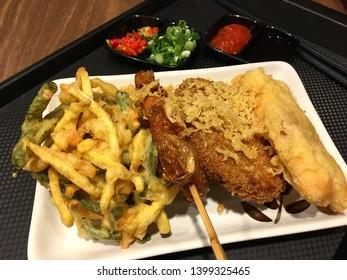 Gorengan is one type of popular snack in indonesia.