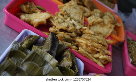 Gorengan and Pepes Traditional Food from Indonesia