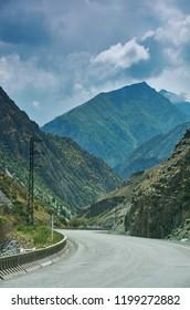 Gorge Kara balta , route from Bishkek to Osh. Kyrgyzstan,