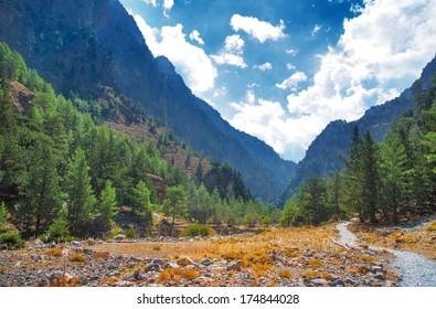 The gorge of Samaria. Crete. Greece