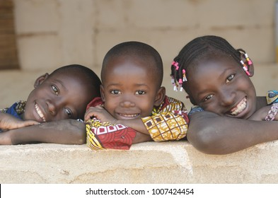 Gorgeous African Black Children Portrait Smiling and Laughing