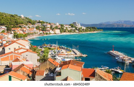 gorgeous azure scene of summer croatian landscape in podgora, dalmatia, croatia