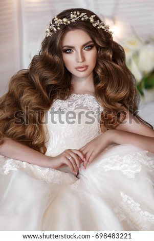 Gorgeous Beauty Young Bride Portrait Beautiful Stock Photo