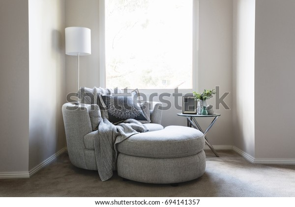 Fabulous Gorgeous Bedroom Sofa Chair Throw Rug Stock Photo Edit Now Andrewgaddart Wooden Chair Designs For Living Room Andrewgaddartcom