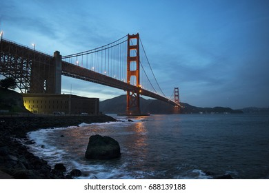 Gorgeous blue hour at the Golden Gate Bridge, San Francisco
