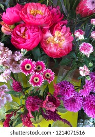 Gorgeous bouquet of flowers at market