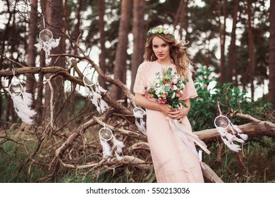 Gorgeous Bride With Dream Catchers