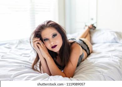 Matchless message Amateur brunette lingerie