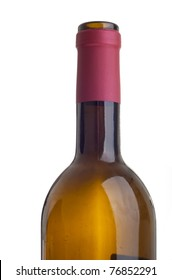 gorgeous close-up of a red wine bottle (isolated on white background)