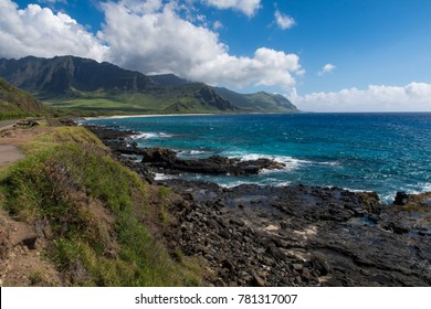 Gorgeous coast of Oahu island