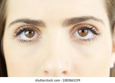 Gorgeous eyes of beautiful lady