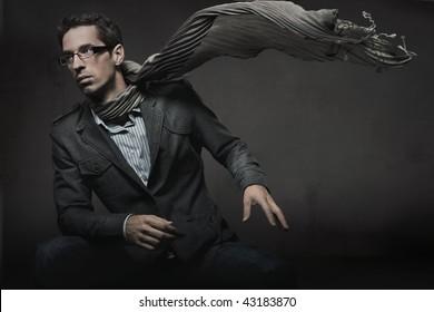 Gorgeous fashion style photo of an elegant man