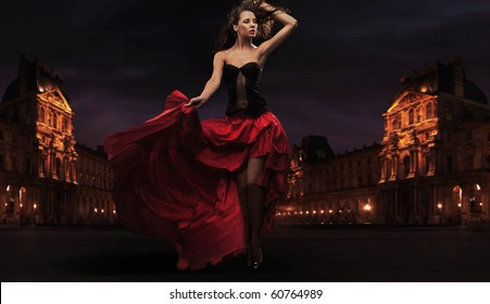 Gorgeous flamenco dancer