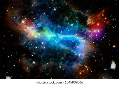 Gorgeous galaxy and stars. The elements of this image furnished by NASA.