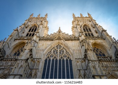 Gorgeous glowing view of York Minster Cathedral in Yorkshire, England UK.