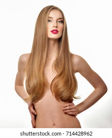 Gorgeous Hair. Beauty Fashion Model Woman with Long and Healthy  Hair. long straight hair. Blond Hair.Professional Makeup.