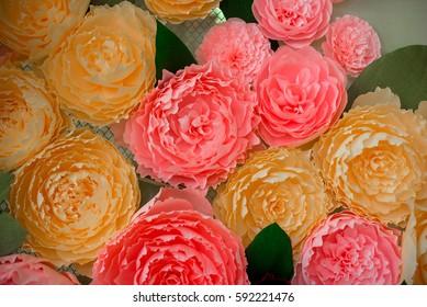 Gorgeous handmade paper flowers.