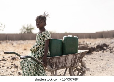 Gorgeous Indigenous Woman Bringing Fresh Water for an insufficiency concept