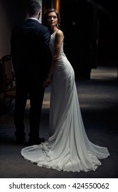 Gorgeous long bridal dress in the pretty bride